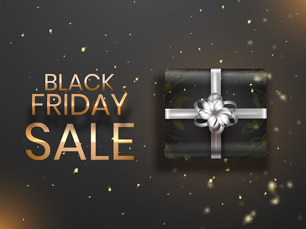 Design del banner di vendita del black friday.