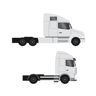 Design del camion merci. rimorchio per trasporto pesante