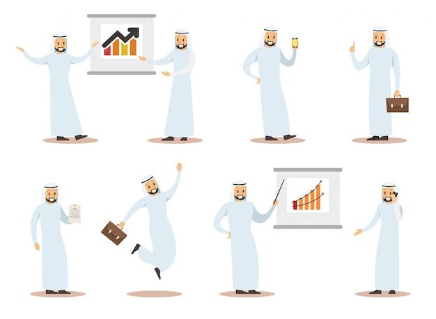 Design del carattere aziendale arabo 8