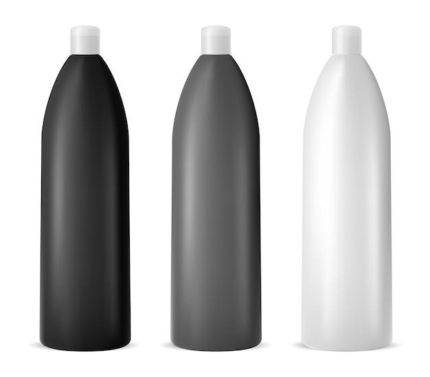 Design del contenitore cosnetic. bottiglia di shampoo vettore