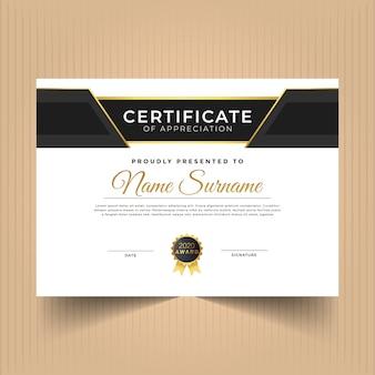Design del diploma certificato per i risultati