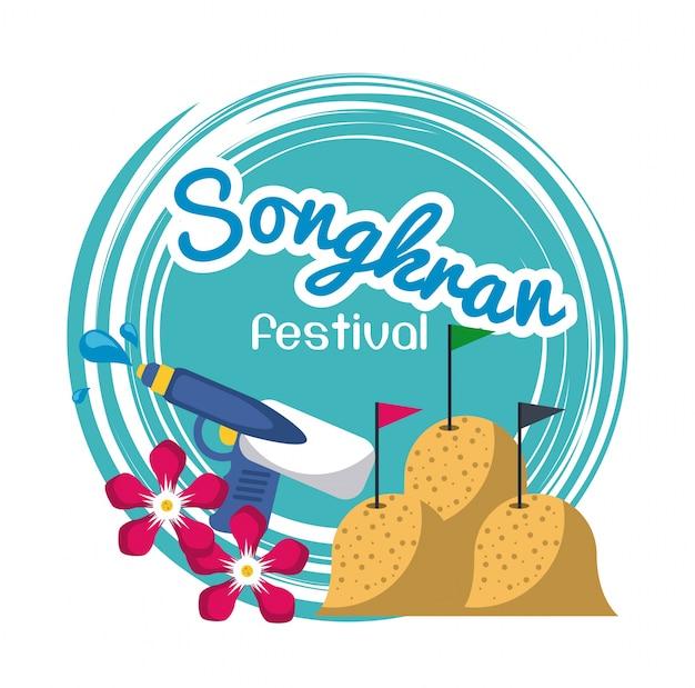 Design del festival di songkran