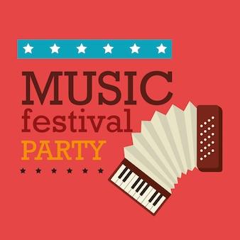 Design del festival musicale.