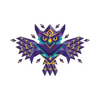 Design del gufo geometrico
