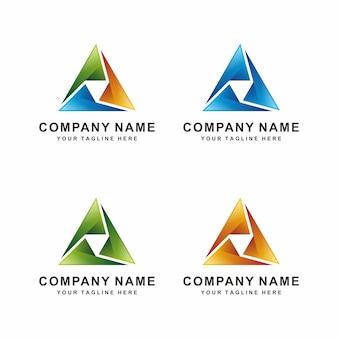 Design del logo a triangolo