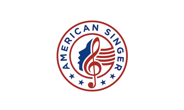 Design del logo american singer / choir