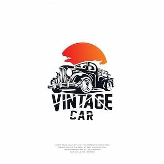 Design del logo auto d'epoca