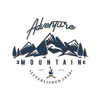 Design del logo avventura moutain