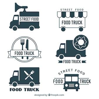 Design del logo camion alimentare