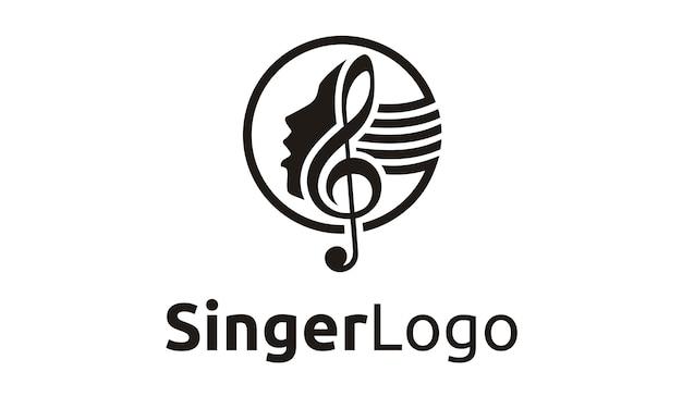 Design del logo cantante / coro