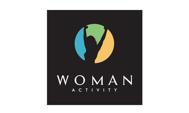 Design del logo colorato benessere donna