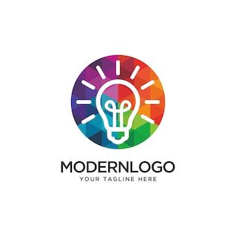 Design del logo colorato bulb