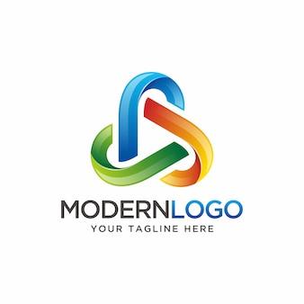 Design del logo colorato triangolo.