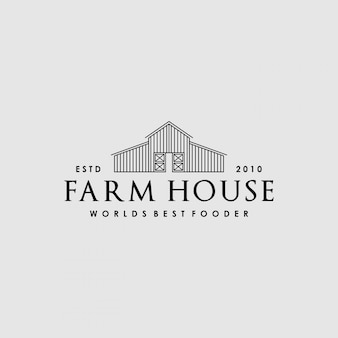 Design del logo creativo vintage farm house
