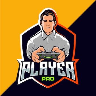 Design del logo del gioco esport pro player