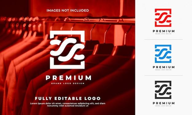 Design del logo del marchio in tessuto premium