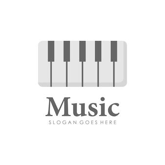 Design del logo del pianoforte