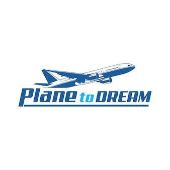 Design del logo dell'aeroplano per la tua azienda