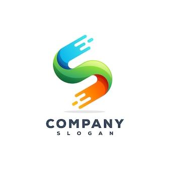 Design del logo della lettera s.