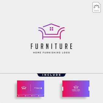 Design del logo della mobilia