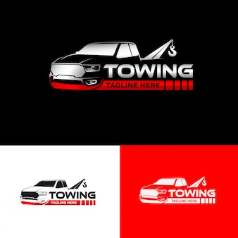 Design del logo della società di rimorchio automobilistico