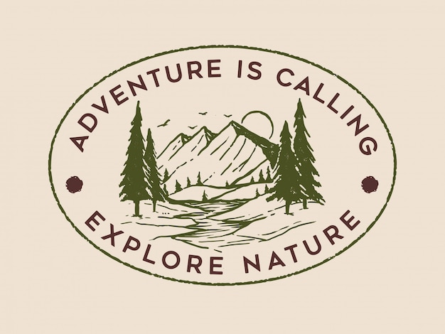 Design del logo di avventura vintage