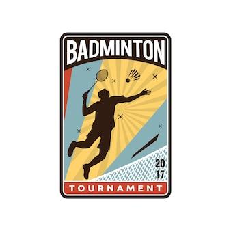 Design del logo di badminton