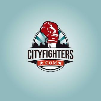 Design del logo di boxe