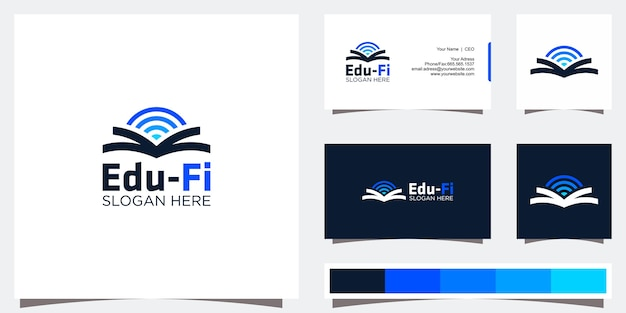 Design del logo di educazione e biglietto da visita