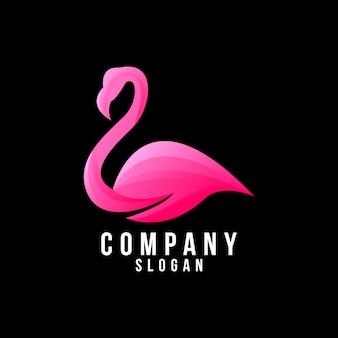 Design del logo di fenicottero