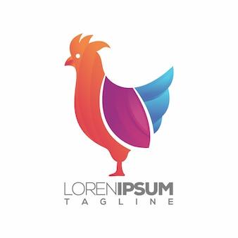 Design del logo di pollo