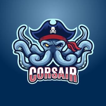 Design del logo di polpo