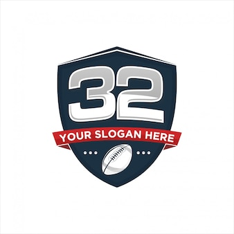 Design del logo di rugby
