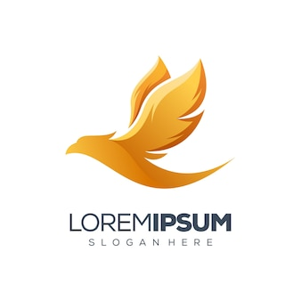 Design del logo di uccello