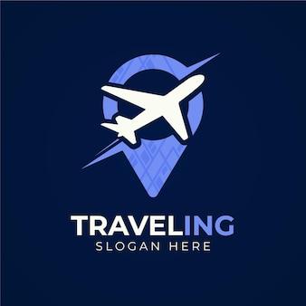 Design del logo di viaggio dettagliato