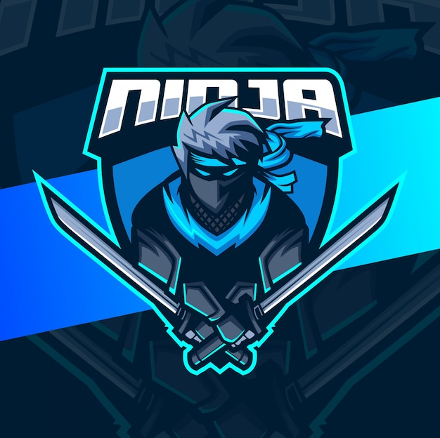 Design del logo esport mascotte ninja