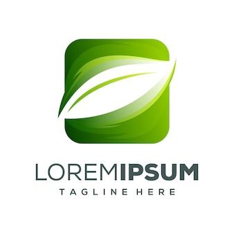Design del logo foglia premium
