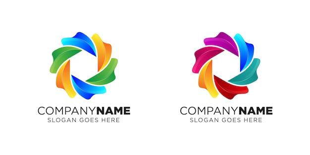 Design del logo fotocamera liquida