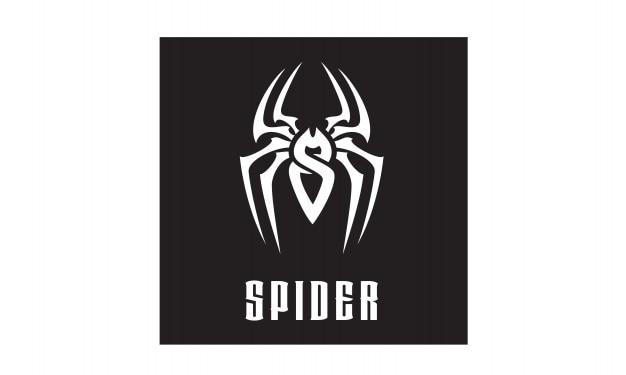 Design del logo iniziale s / spider