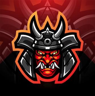 Design del logo mascotte oni esport