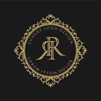 Design del logo monogramma vintage per l'etichetta del marchio