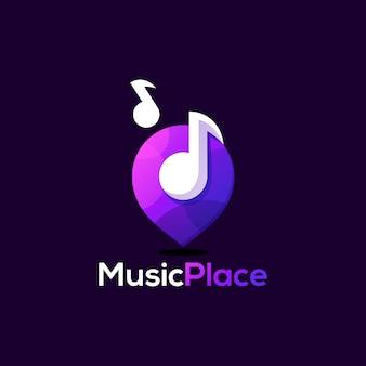 Design del logo musicale design della bottiglia di vino. illustrazione