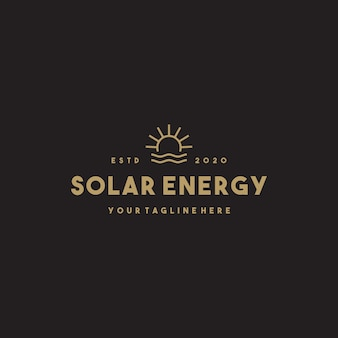 Design del logo professionale a energia solare
