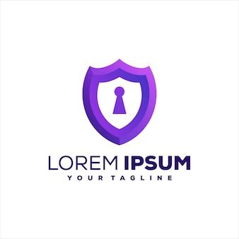 Design del logo sfumato chiave di sicurezza