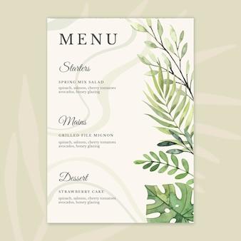 Design del menu anniversario 25 anni