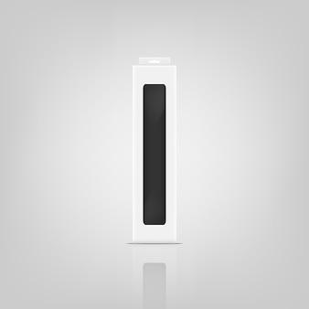 Design del mockup del pacchetto 3d.