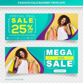 Design del modello banner mega vendita