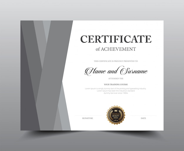 Design del modello di layout certificato.