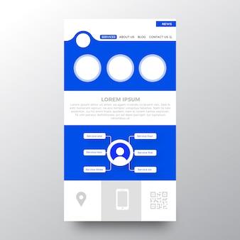 Design del modello di sito web creativo