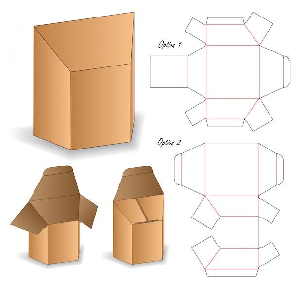 Design del modello fustellato confezionamento borsa